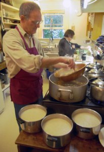 Saturday breakfast prep at Berkeley Zen Center.