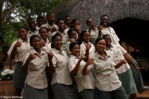 Staff at Tembe Elephant Park.