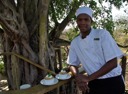 Chef Kenneth Matlhatsi at Nambiti