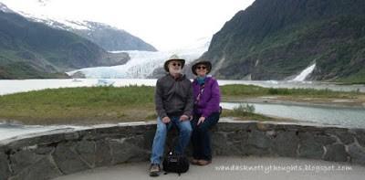 Visiting Mendenhall Glacier, Juneau, Alaska    wandasknottythoughts.com