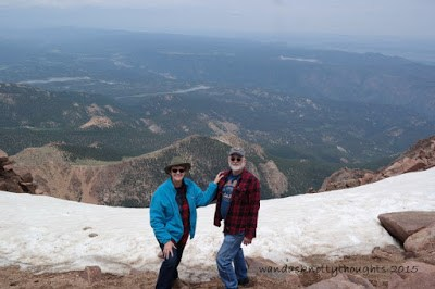 View from Pike's Peak, Colorado Springs, Colorado on wandasknottythoughts.com
