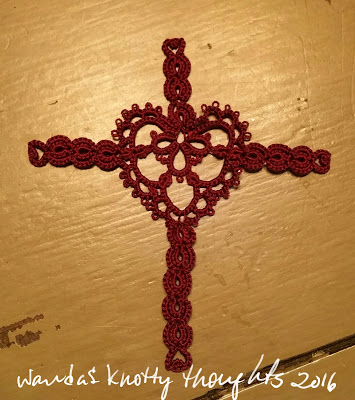 Joy's Heart cross bookmark wandasknottythoughts January 2016