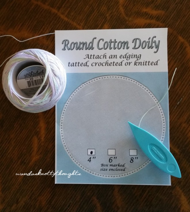 4 inch round cotton doily - project inspiration