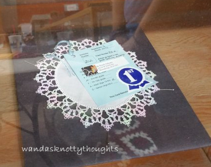 Doily with 'Harper' tatted edging at the fair on wandasknottythoughts