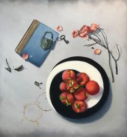 Italian Glass (30x30 oil on canvas)