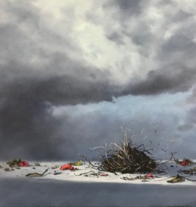Shelter (Oil on canvas. 29x20)
