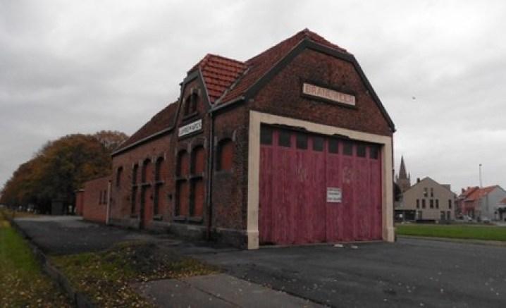 het voormalige station van Langemark