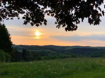 Sonnenuntergang bei Lutzerath