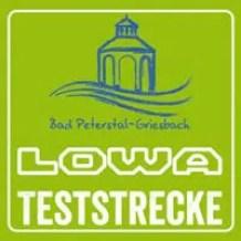 LOWA Teststrecke Wegmarkierung