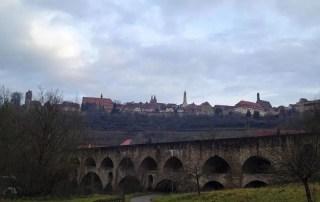 Blick auf die Doppelbrücke