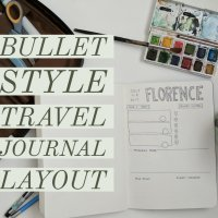 Bullet Style Travel Journal - Free Printable Layout