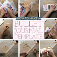 Make a Time-Saving Bullet Journal Template Stencil