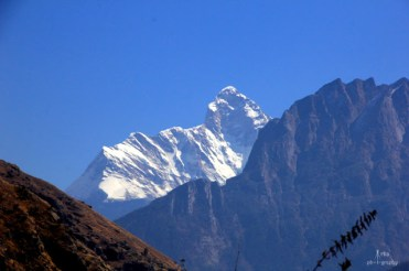 Nanda devi from the view point on the way back to Joshimath