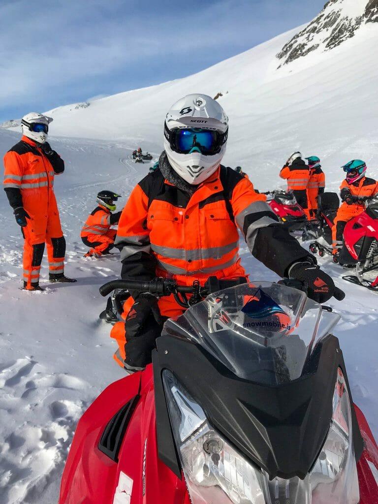 Joelle snowmobiling