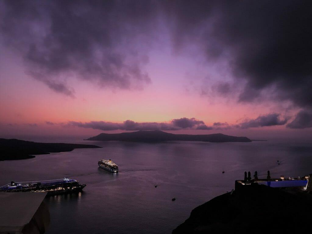 Fira, Greece Sunset