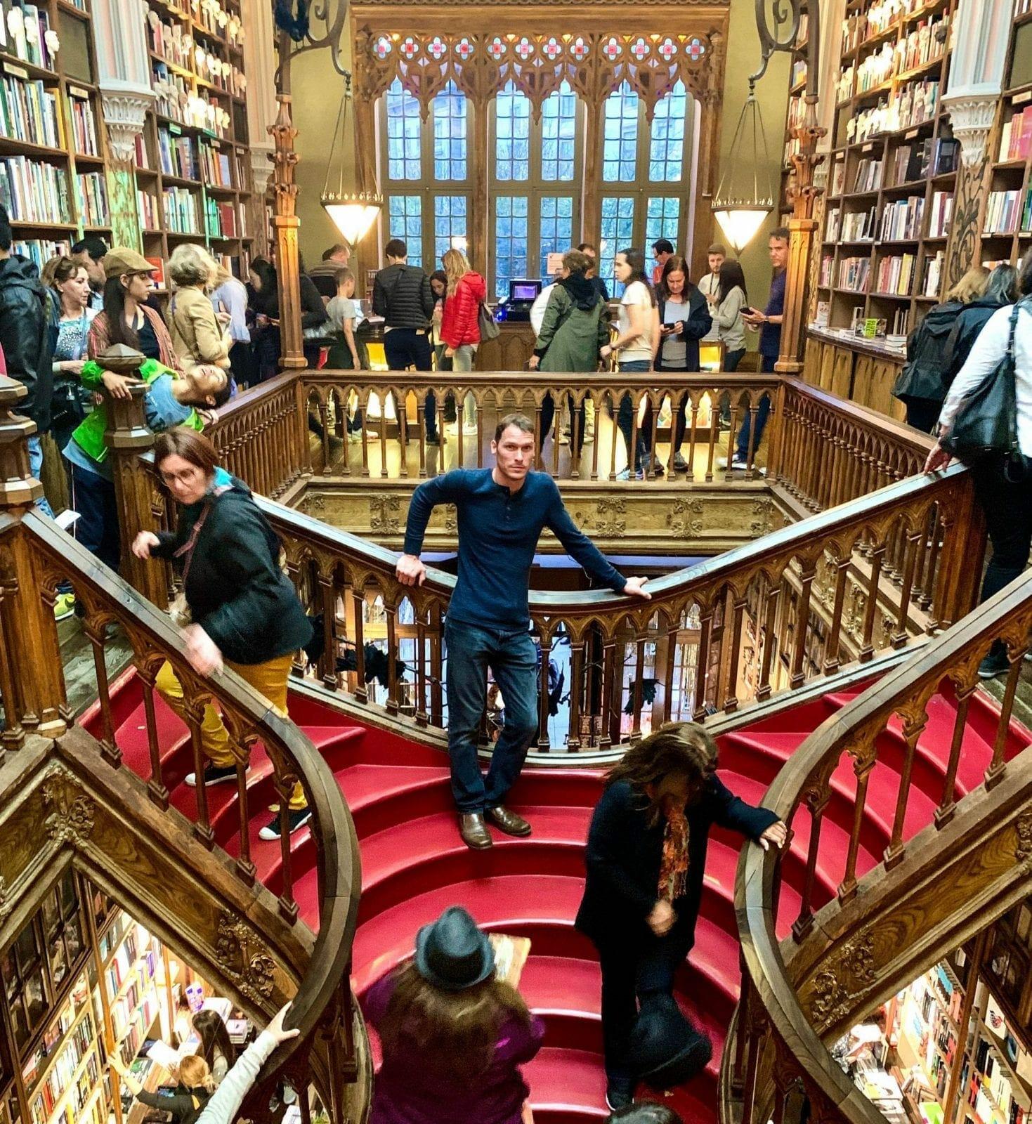Ryan in Porto Bookstore