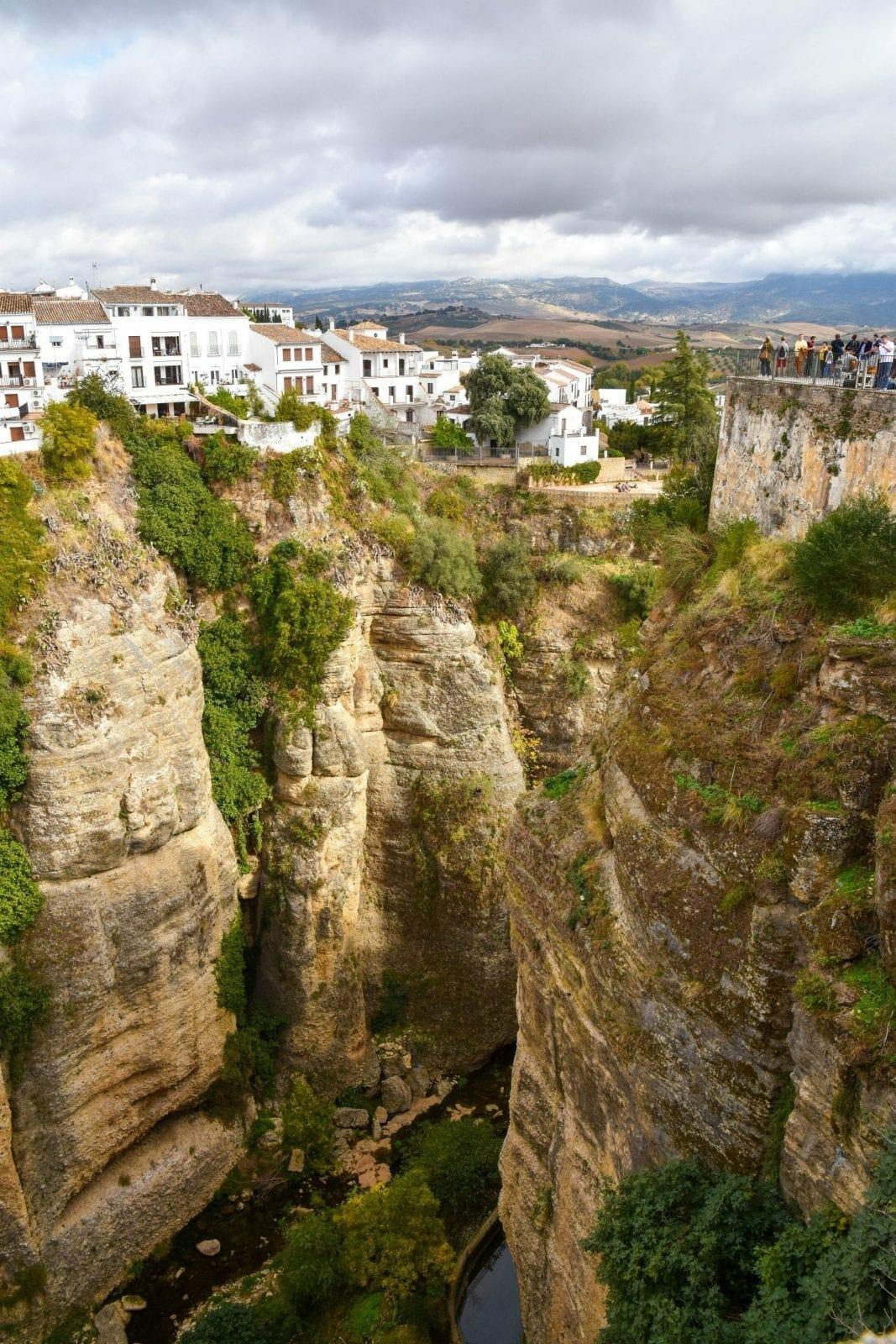 Ronda gorge cliffs