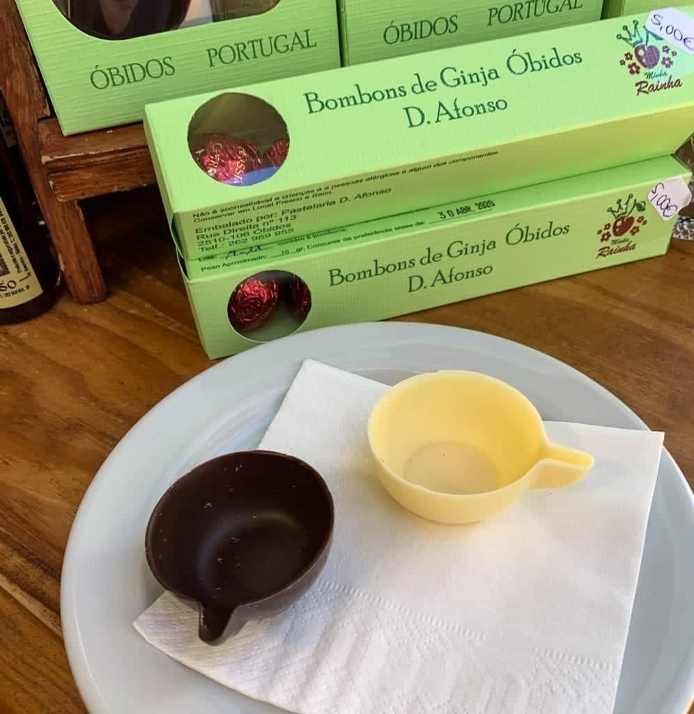 Chocolate cups Obidos