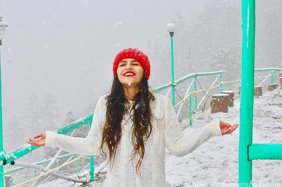 snow in Mashbora Shimla
