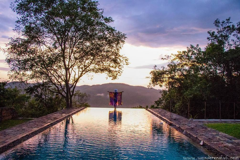 beautiful Infinity Pool Living Heritage Koslanda Sri Lanka