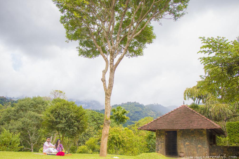 breakfast under tree at Living Heritage Koslanda Sri Lanka