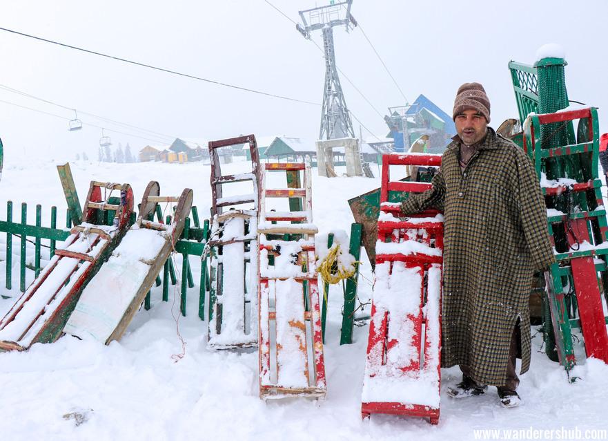 Sledges in Kashmir