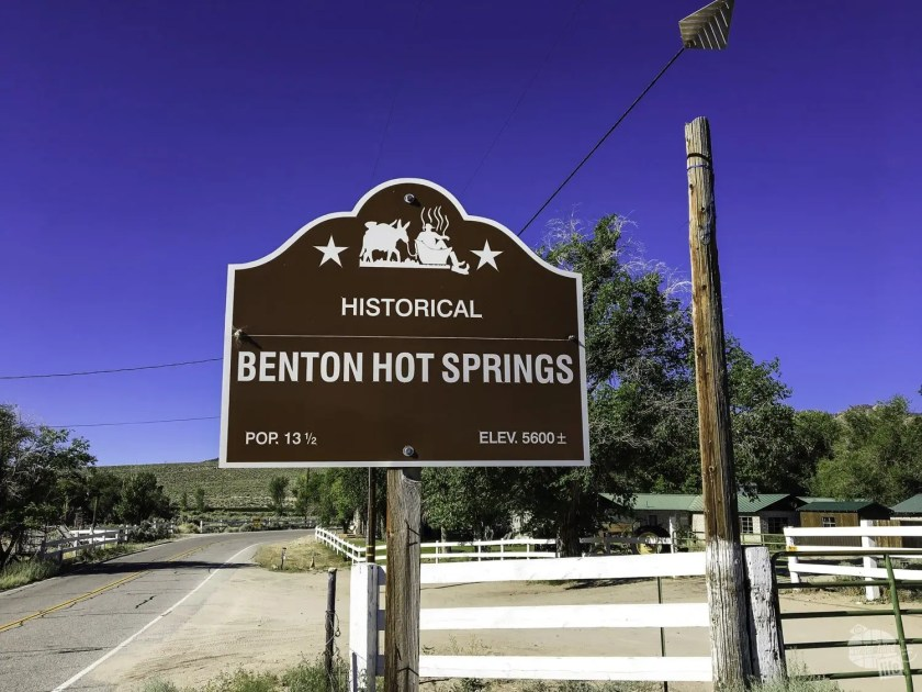 Benton Hot Springs sign
