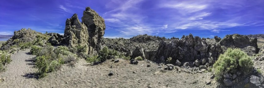 Panum Crater is one of many volcanic craters near Mono Lake.