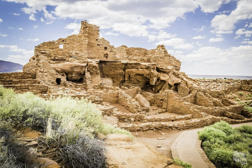 The ruins of the Wupatki Pueblo in Wupatki National Monument.