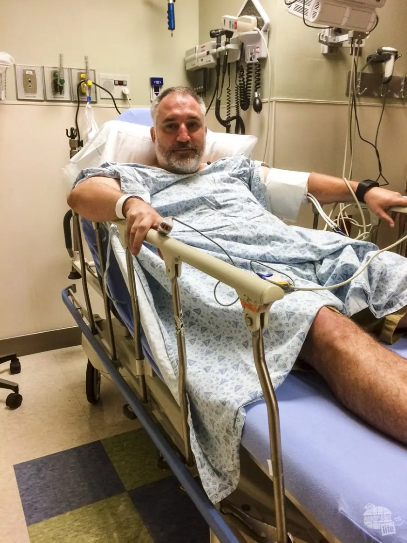 Recovering after a heart attack.