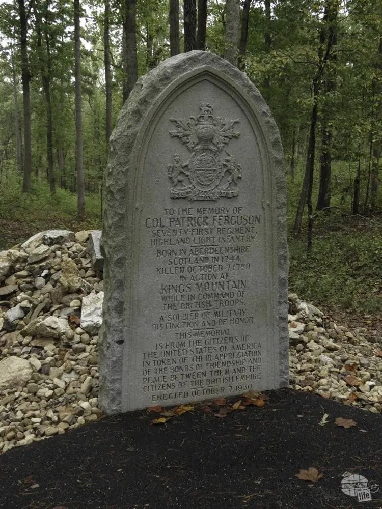 Ferguson Memorial at Kings Mountain