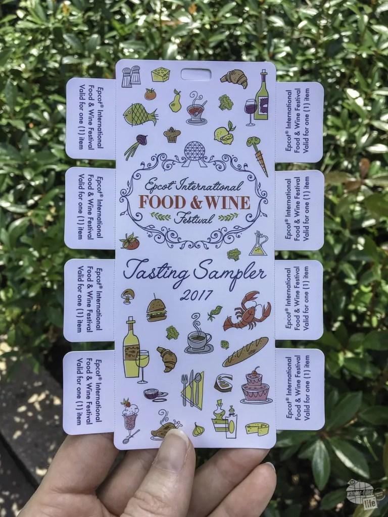Food and Wine Festival Tasting Sampler vouchers.