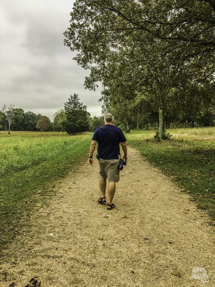 The walking trail at Cowpens