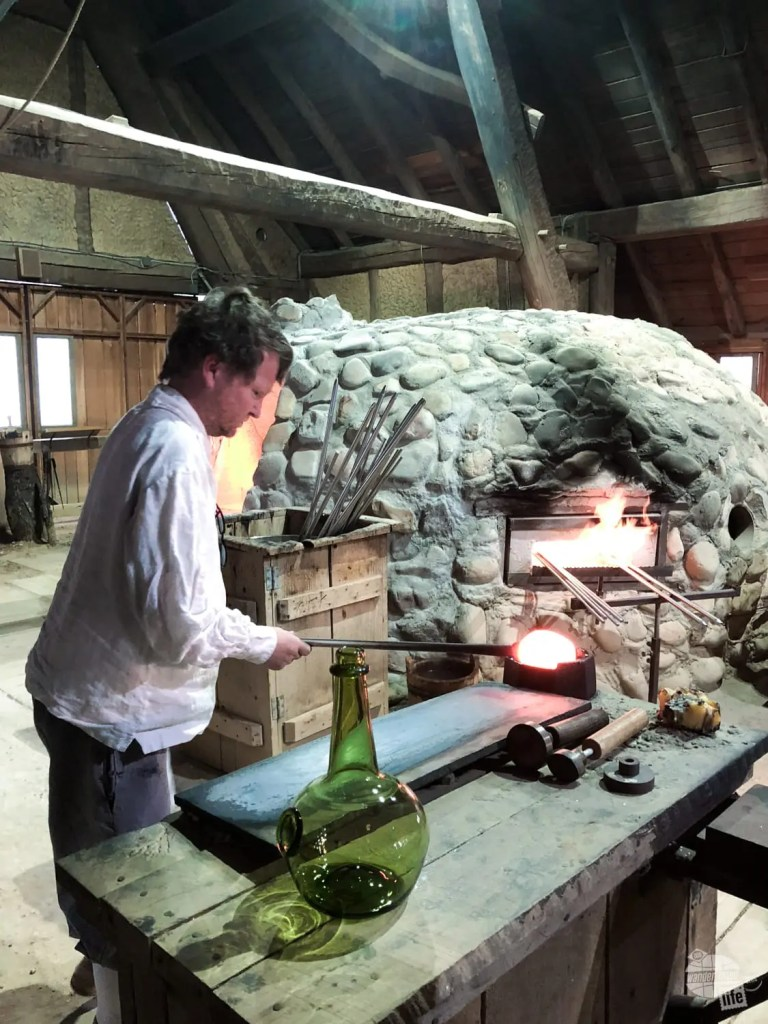 One of the cool things to see at Jamestown is the glassblowing exhibitions.