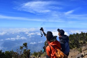 Selfie beim Wandern