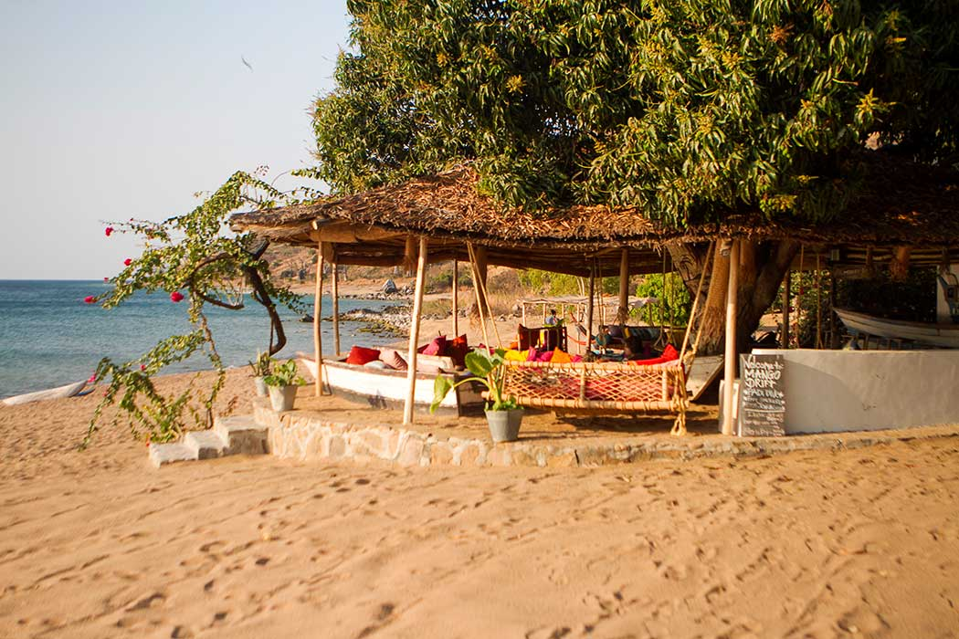 Likoma Mango Drift lounge on the beach