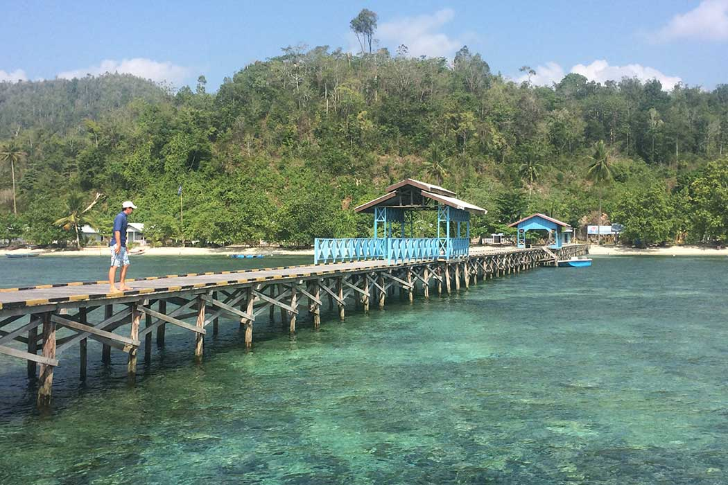 Papouasie village ponton3