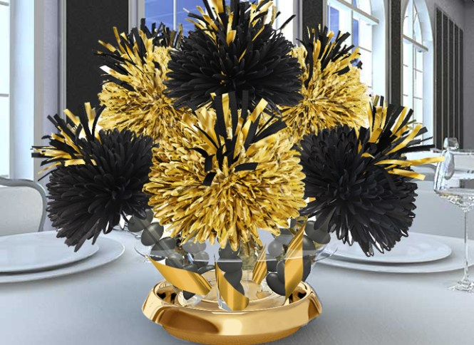 Black And Gold Graduation Party Enement Glitter Parties