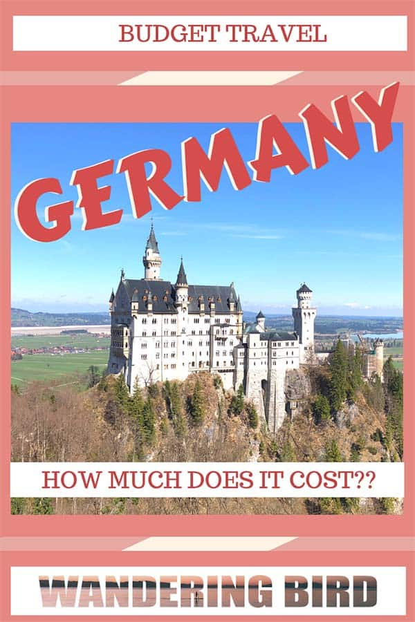 How much does it cost to travel Germany?? Is it an expensive country or can it be done on a budget? Here's EVERYTHING you need to know about travelling Germany on a budget #germany #travel #budget #traveltips #roadtrip