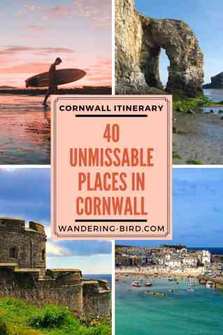 Looking for the best places to see on a Cornwall Road Trip? Here are 40 UNMISSABLE places to see in Cornwall to make your road trip the best it can be! #roadtrip #cornwall #UK #itinerary #travel #travel-tips #placestovisit