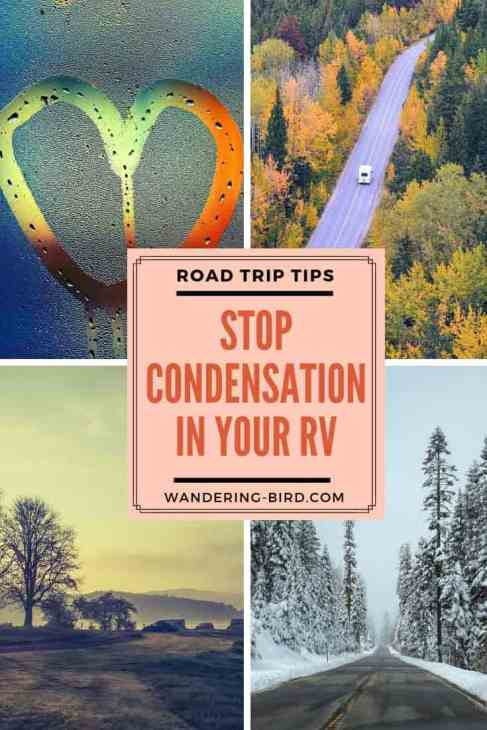 Looking for the best tips to stop condensation in your RV or camper? These tips are GENIUS to get rid of condensation so you can enjoy winter camping!! #rv #camper #condensation #roadtriptips #rvlive