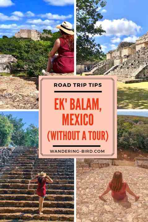 Road Trip in Mexico to Ek'Balam- the Mayan ruins you can CLIMB ON! This post tells you EXACTLY how to get there, what you need to bring and do when you are visiting Ek' Balam. #ekbalam #mexico #ruins #yucatan #blackjaguar #mayanruins #ek'balam
