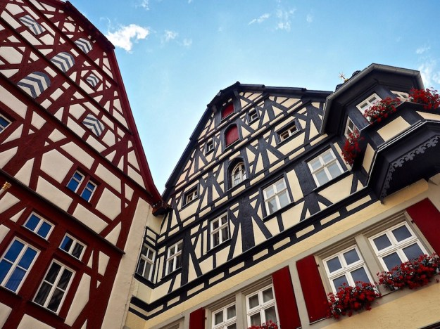 Bavarian timber houses Rothenburg ob der Tauber Wandering Chocobo