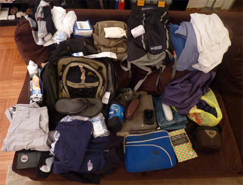 Packing for an overseas trip