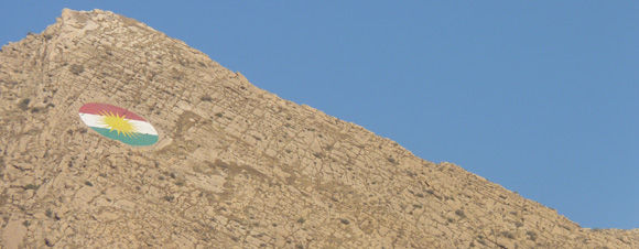Kurdish Flag in Dohuk