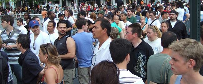 Crowd in NY