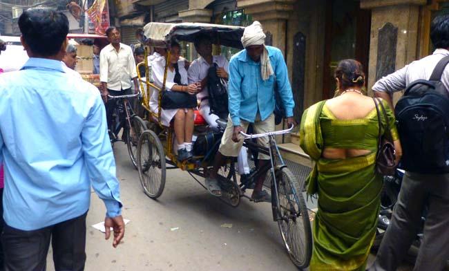 Rickshaw Driver in India
