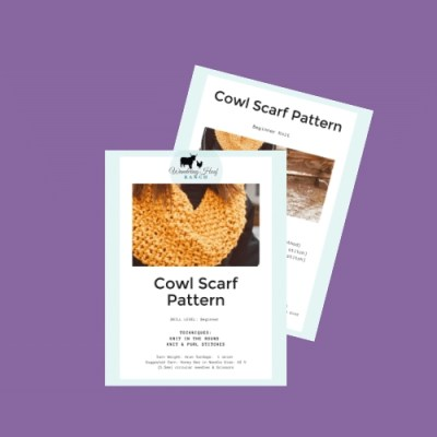 cowl scarf knit pattern hero image