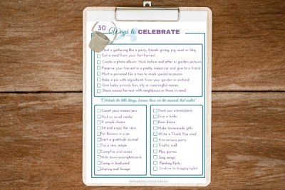 Happy Homestead Celebration Bucketlist