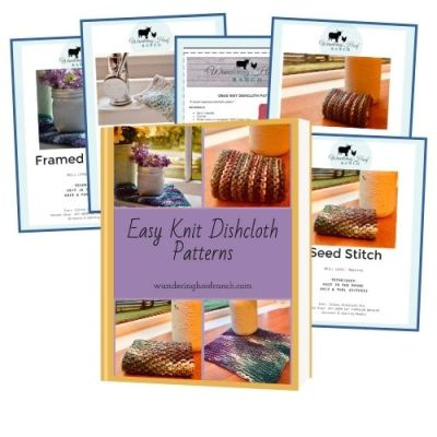 Easy Knit Dishcloth Pattern Ebook Collection